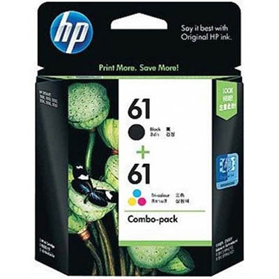 HP 61 INKJET CARTRIDGE BLACK AND COLOUR PACK