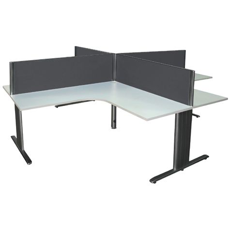 Desk Mounted Screen Flat Top 1200 x 500mm