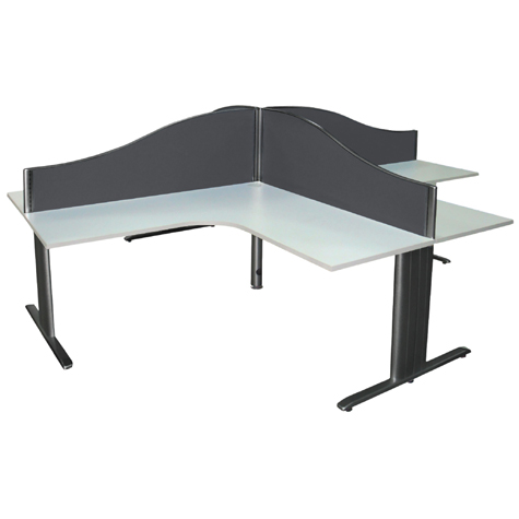 Desk Mounted Screen Wave Top 1200 x 500mm