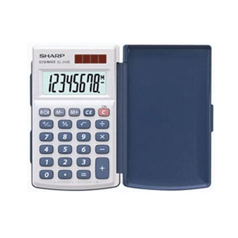 Sharp EL243S Twin Power Basic Calculator with Hard Cover SPECIAL 30% Off - only 21 available at this price