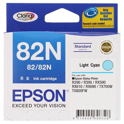 EPSON 82N INKJET CARTRIDGE LIGHT CYAN