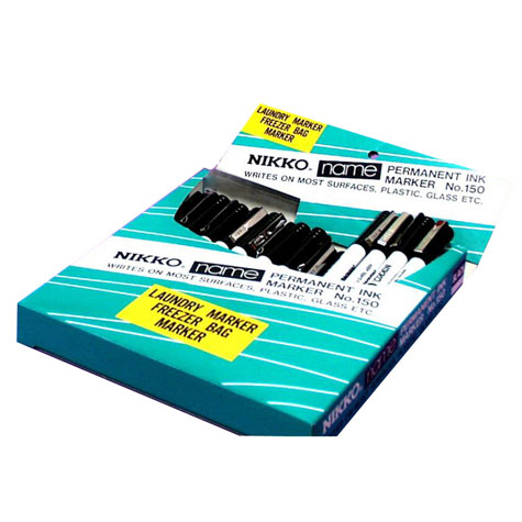 Nikko 150 Laundry & Freezer Bag Marker Black SPECIAL 30% Off - only 28 available at this price