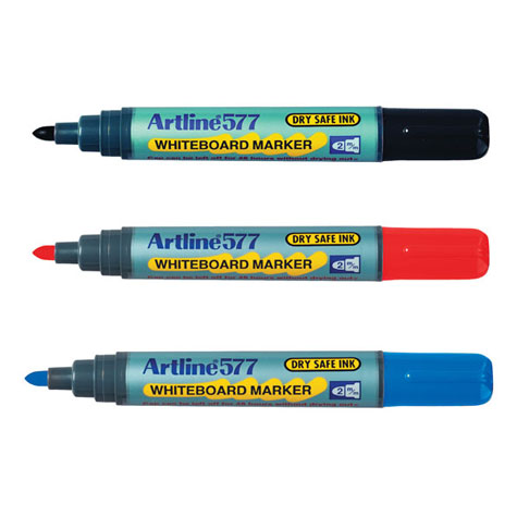 Artline 517/577 Drysafe Whiteboard Marker Bullet Point 2mm Blue SPECIAL 30% Off - only 12 available at this price