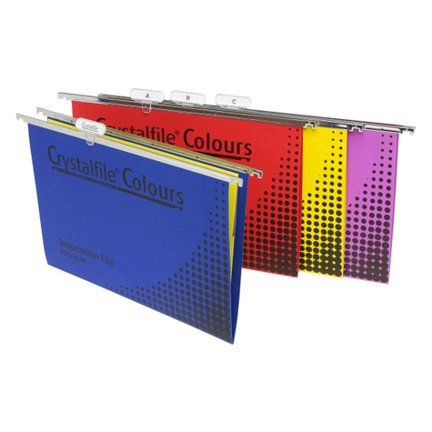 Crystalfile Coloured Suspension Files Foolscap Yellow PACK 10 SPECIAL 30% Off - only 3 available at this price