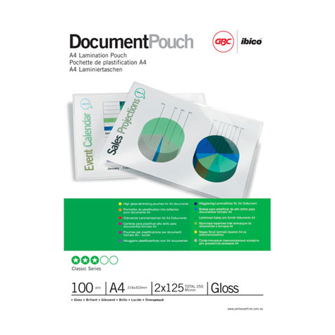 GBC Ibico Laminating Pouch A5 Gloss  80 micron PACK 100 SPECIAL 30% Off - only 1 available at this price