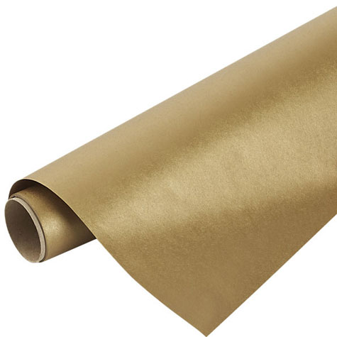 Gift Wrap Gold Paper Admiral 750mm x 1.5m ROLL