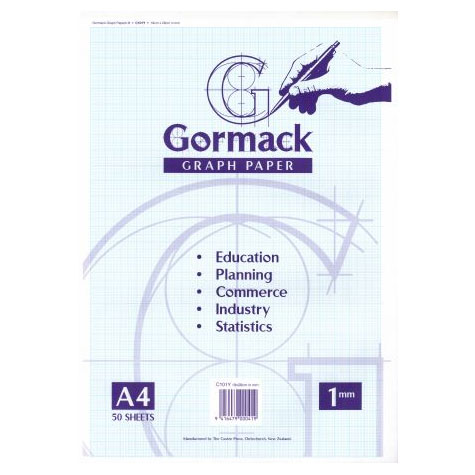Gormack Graph Pad C101Y A4 1mm Grid 50 Sheet SPECIAL 30% Off - only 7 available at this price