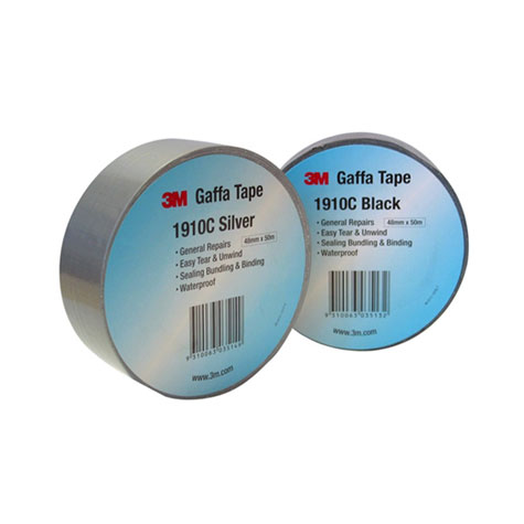 3M Gaffa Tape 1910C Cloth Black 48mm x 10m ROLL SPECIAL 30% Off - only 36 available at this price