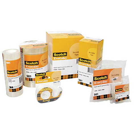 Scotch Everyday 501 Invisible Tape 12mm x 33m SPECIAL 30% Off - only 8 available at this price