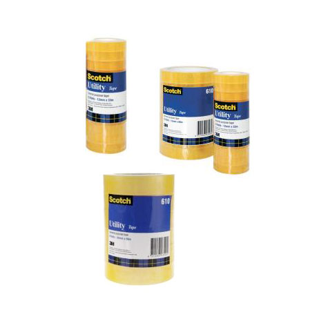 Scotch 610 Budget Utility Tape 12mm x 66m Clear SPECIAL 30% Off - only 9 available at this price