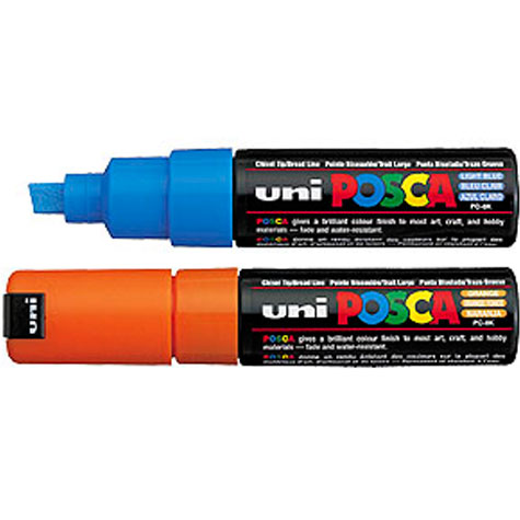 Uniball PC8K Posca Poster Marker Chisel 8mm Violet SPECIAL 30% Off - only 5 available at this price