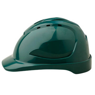 PROCHOICE HARD HAT HHV9 VENTED 9 POINT PUSHLOCK HARNESS GREEN