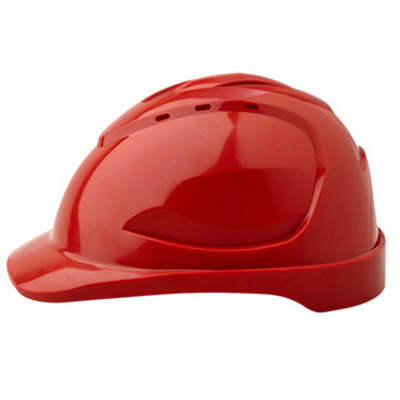 PROCHOICE HARD HAT HHV9 VENTED 9 POINT PUSHLOCK HARNESS RED