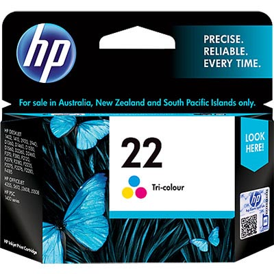 HP C9352AA NO 22 INK CARTRIDGE TRI COLOUR