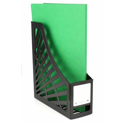 Italplast Magazine Stand I160GR Green Recycled Black SPECIAL 30% Off - only 4 available at this price