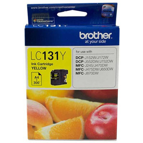BROTHER LC-131Y INK CARTRIDGE YELLOW
