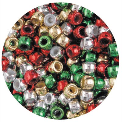 EDUCATIONAL COLOURS PONY BEADS CHRISTMAS PACK 1000