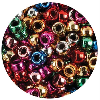 EDUCATIONAL COLOURS PONY BEADS METALLIC PACK 1000