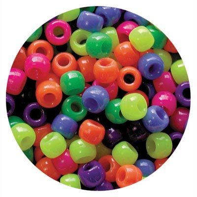 EDUCATIONAL COLOURS PONY BEADS NEON PACK 1600