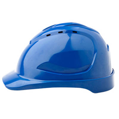 PROCHOICE HARD HAT HHV9 VENTED 9 POINT PUSHLOCK HARNESS BLUE