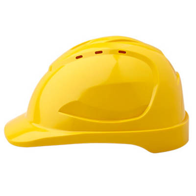 PROCHOICE HARD HAT HHV9 VENTED 9 POINT PUSHLOCK HARNESS FLUORO YELLOW