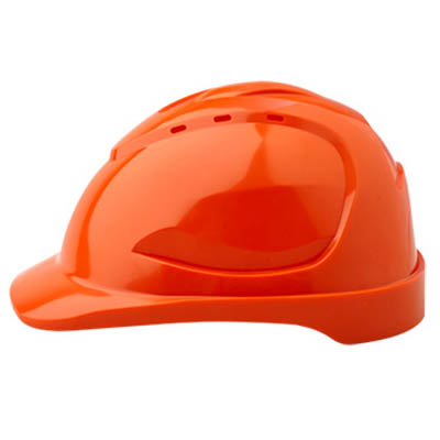 PROCHOICE HARD HAT HHV9 VENTED 9 POINT PUSHLOCK HARNESS ORANGE