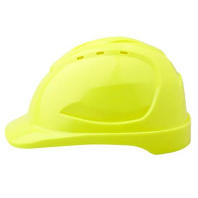 PROCHOICE HARD HAT HHV9 VENTED 9 POINT PUSHLOCK HARNESS YELLOW