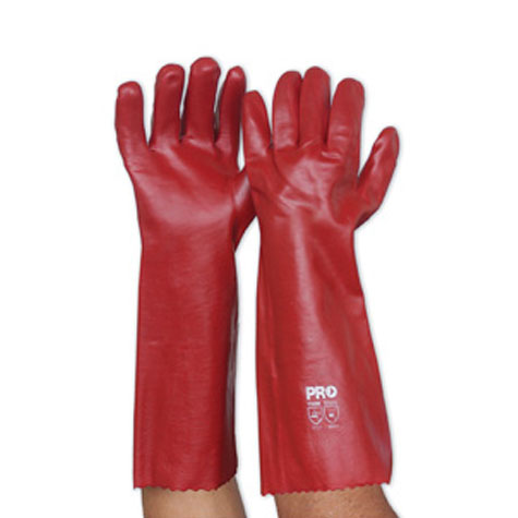 Zions PVC Glove Red Long PAIR SPECIAL 30% Off - only 12 available at this price