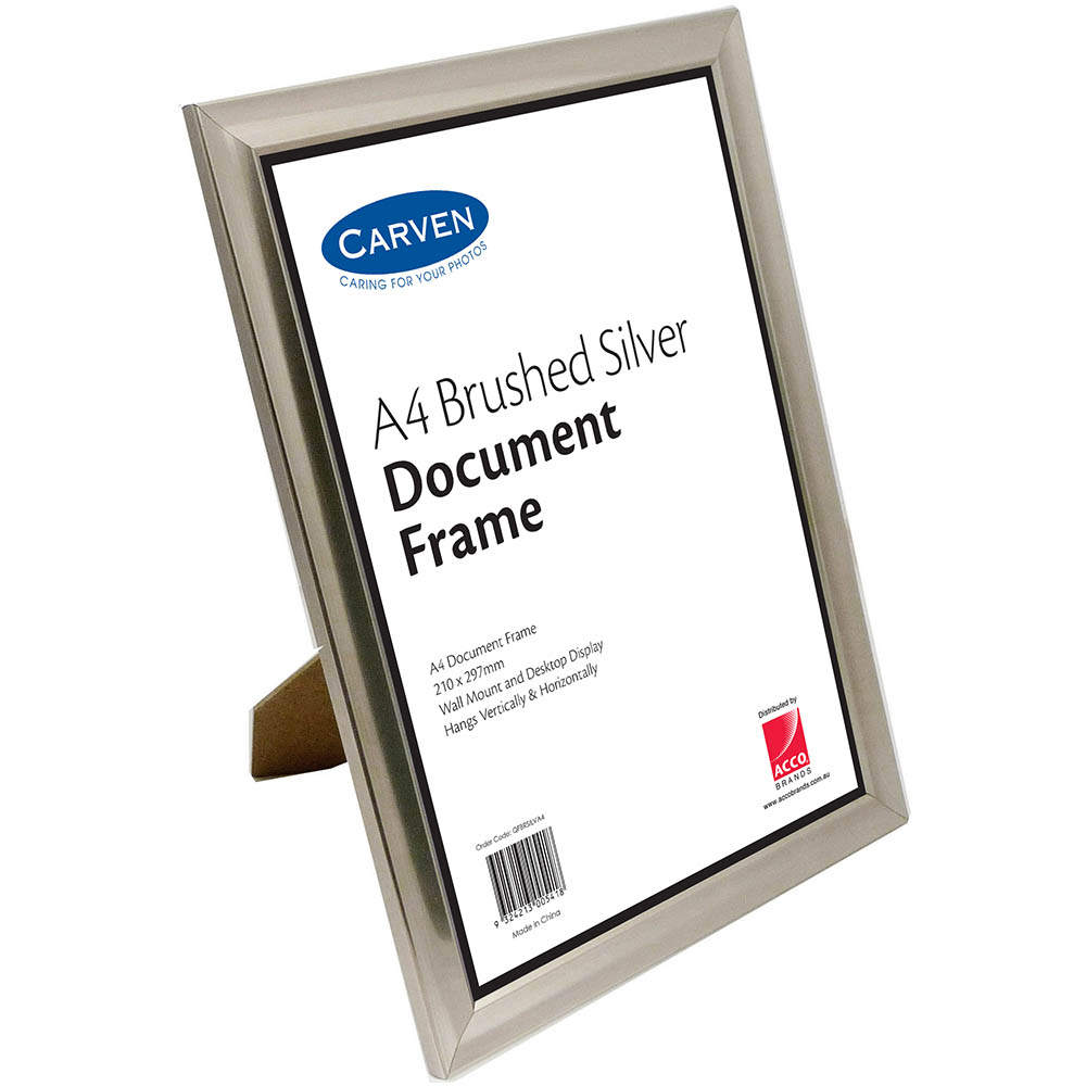 Carven Document Frame Brushed Silver A4 SPECIAL 30% Off - only 17 available at this price