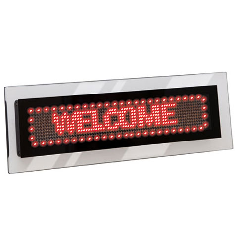 Quartet LED Scrolling Sign Acrylic