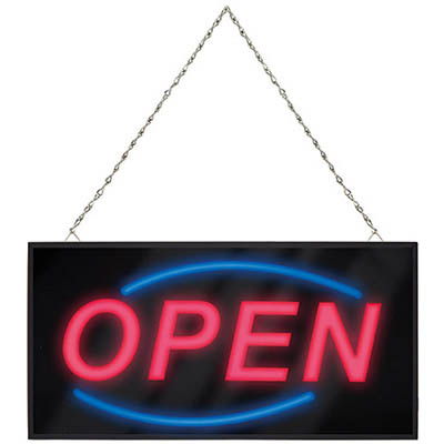 Quartet LED Open Sign