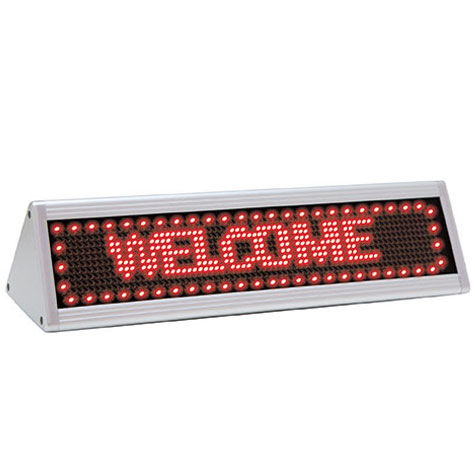 Quartet LED Scrolling Sign Triangular