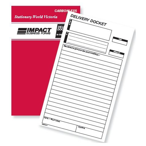 Impact SB324A Delivery Docket Book Carbonless Triplicate 8