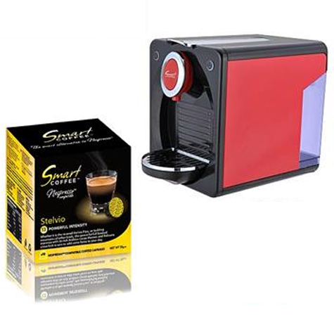 Smart Coffee Junior 202 Capsule Machine + Bonus 100 Capsules