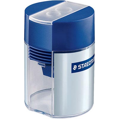 STAEDTLER DOUBLE HOLE BARREL PENCIL SHARPENER