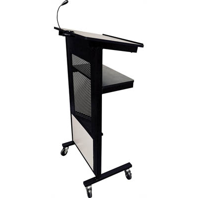 VISIONCHART COMMUNICATE PROFESSIONAL LECTERN 600 X 400 X 1205MM BLACK